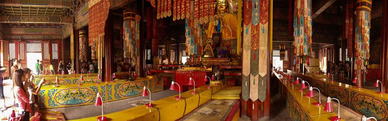 Tibetan prayer room